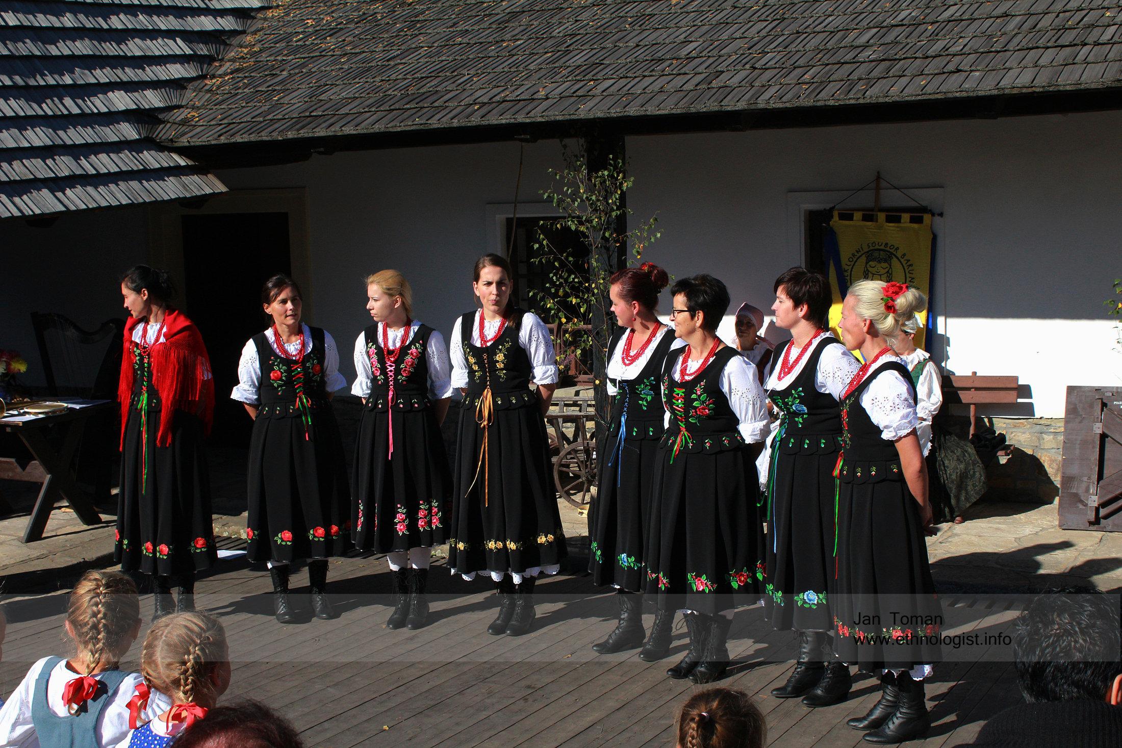 The Poland folklore band in Czech town Ceska Skalice