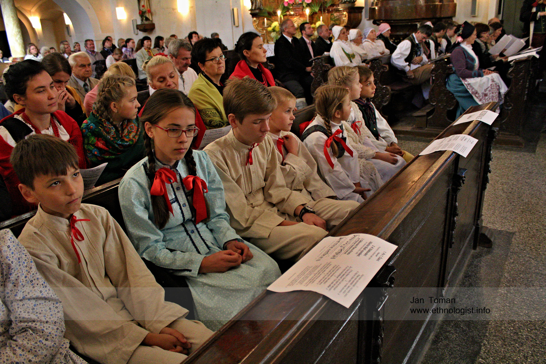 Children during St. Wenceslav Pilgrimage in the Czech Republic