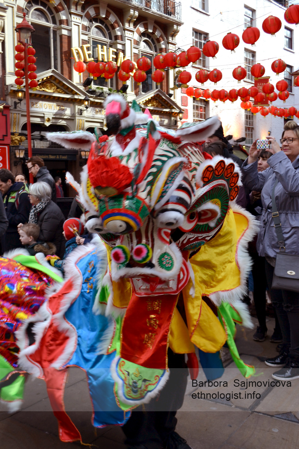 Traditional celebration of Chinese New Year in Chinatown in London.