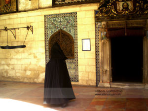The Armenian priest in Old Town in Jerusalem