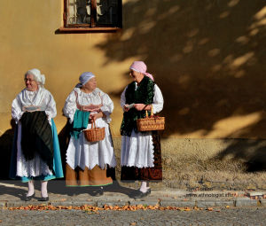 Czech women during feast of the St. Wenceslav Pilgrimage