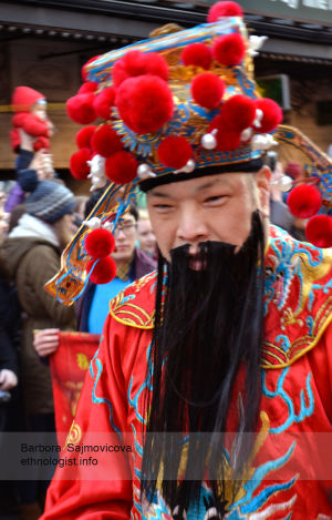 Chinese man during celebration of Chinese New Year