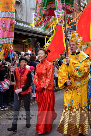 Parade during celebration of Chinese New Year