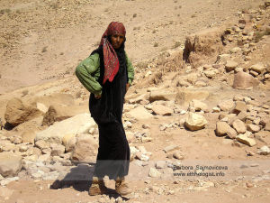 The Bedouin woman in Petra