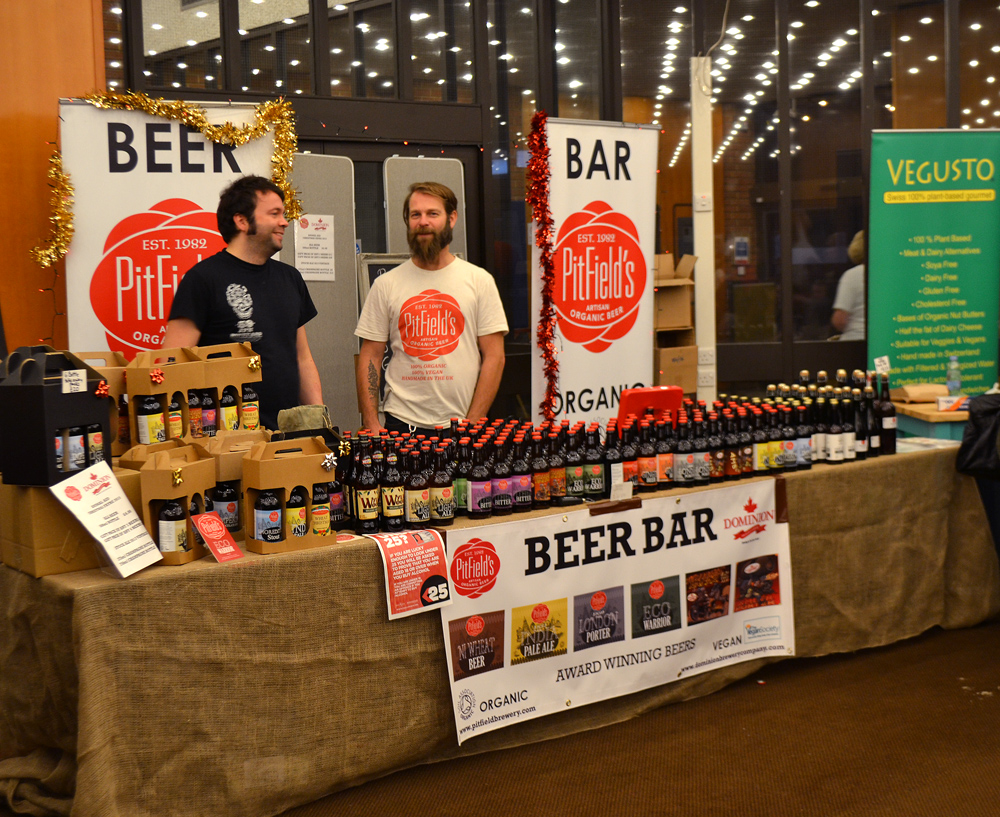 The vegan and organic beer bar of Pitfield Brewery. Photo: Barbora Sajmovicova, 2015.