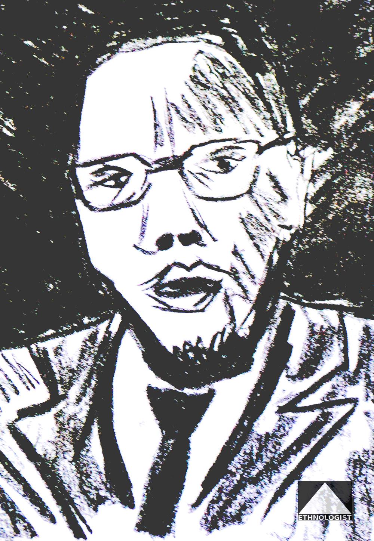 Malcolm X. Illustration: Barbora Sajmovicova, 2016.