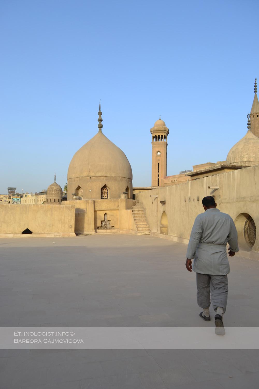 Na vrcholu mešity al-Azhar. Foto: Barbora Šajmovičová, Káhira, 2011.