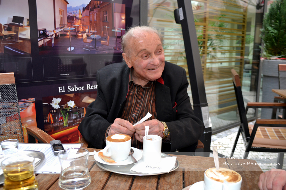Professor Leopold Jaroslav Pospisil in Prague. Photo: Barbora Sajmovicova, 2016.