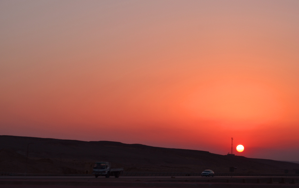 Sunset in Egyptian Desert. Photo: Barbora Sajmovicova, 2011.