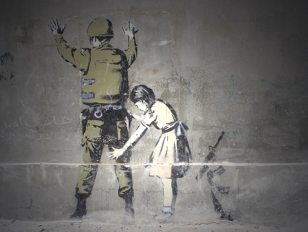 Street Art on the Israeli West Bank barrier. Photo: Barbora Zelenkova (née Sajmovicova), 2009, Olympus digital camera, Israel.