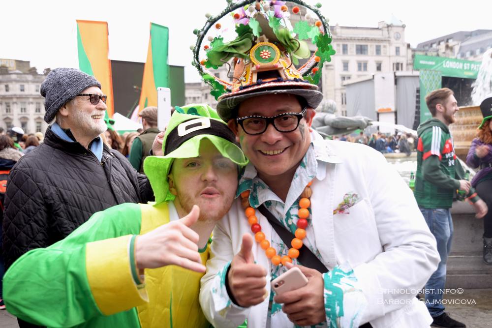 The celebration of St. Patrick´s Day in Trafalgar Square. Photo: Barbora Sajmovicova