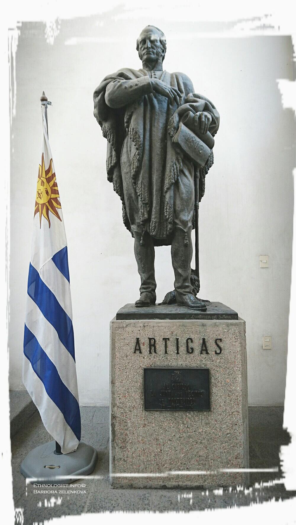 José Gervasio Artigas v Museo Histórico Cabildo. Foto: Barbora Zelenková, 2016.