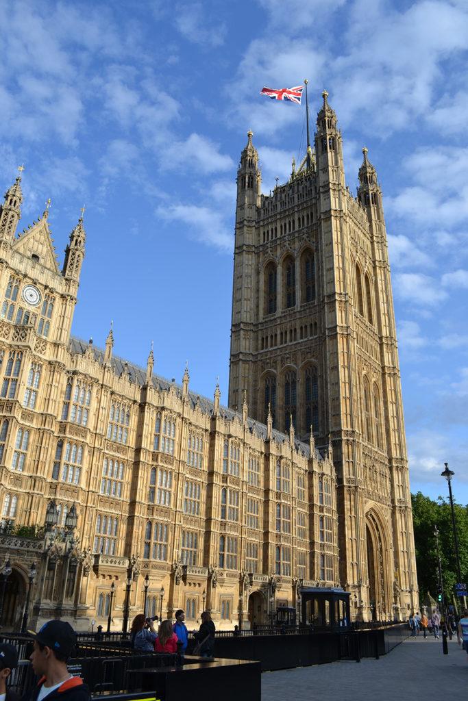 Westminsterský palác byl terčem útoku již roku 1605. Foto: Barbora Zelenková, Londýn, 2013.