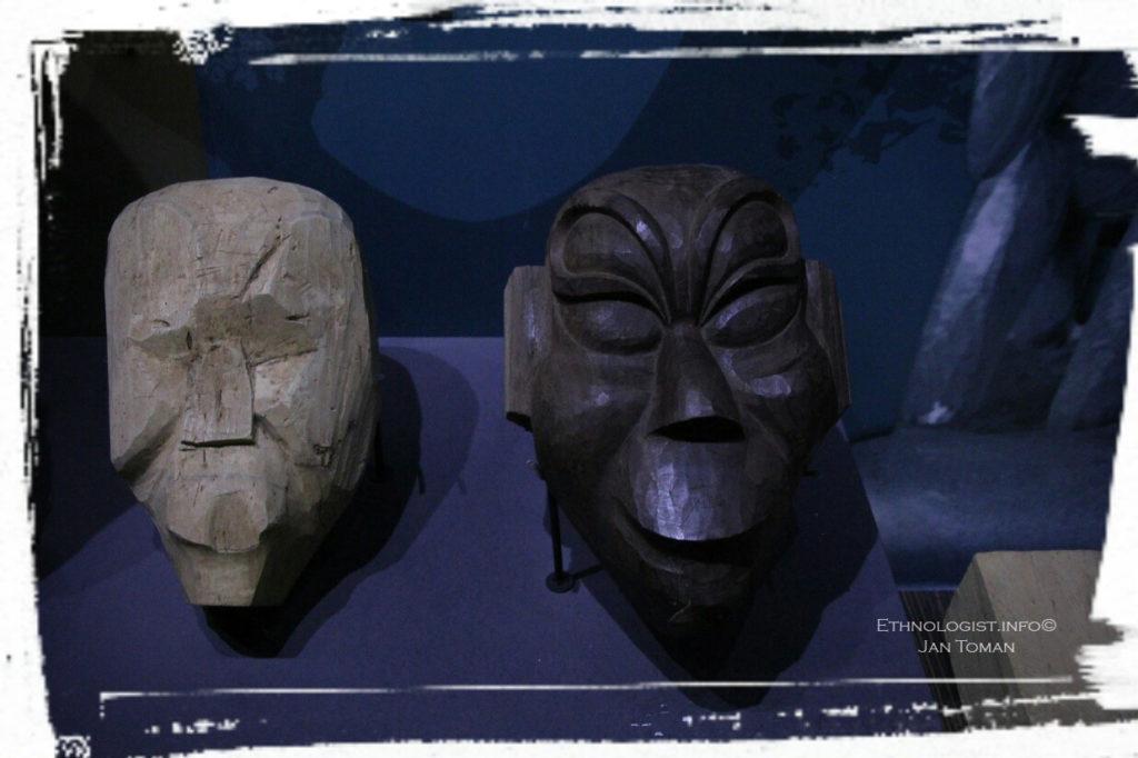 Examples of traditional wood carving of Orang Asli masks. Photo: Jan Toman